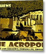 The Acropolis Athens Metal Print
