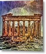 The Acropolis Of Athens Metal Print