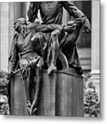 The Actor Statue Philadelphia Metal Print