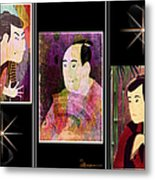 The Actors Sawamura-otani Oniji And Ichikawa Yaozo Metal Print