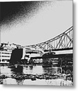 The Admiral And President's Casino In Ink Stamp Metal Print