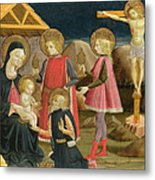 The Adoration Of The Kings And Christ On The Cross Metal Print