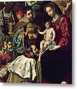 The Adoration Of The Magi, 1620 Oil On Canvas Metal Print