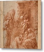 The Adoration Of The Magi Metal Print