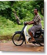 The African Woman Metal Print