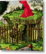 The Agony In The Garden, C.1500 Oil On Canvas Metal Print