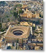 The Alhambra Aerial Metal Print