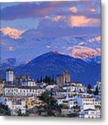 The Alhambra And Granada Metal Print