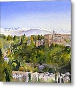 The Alhambra Granada Metal Print