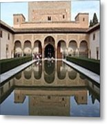 The Alhambra Palace Reflecting Pool 2 Metal Print