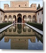 The Alhambra Palace Reflecting Pool Metal Print