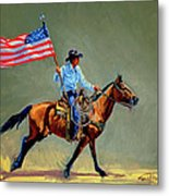 The All American Cowboy Metal Print