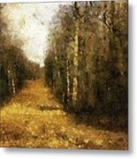 The Allee At Dawn Metal Print