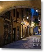 The Alley- In Beautiful Barcelona Metal Print