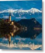The Alps Bled Metal Print