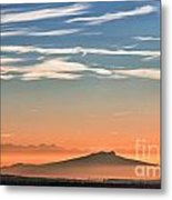 The Alps Sunset Over Fog Metal Print