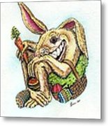 The Altered Easter Bunny Metal Print