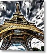 The Amazing Eiffel Metal Print