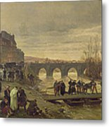 The Ambulance De La Presse At Joinville During The Siege Of Paris Oil On Canvas Metal Print