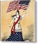 The American Flag A New National Lyric Metal Print
