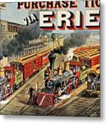 The American Railway Scene  Metal Print by Currier and Ives