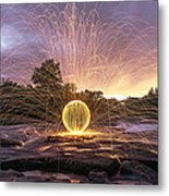 The American River Orb Metal Print by Lee Harland