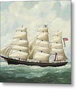 The American Ship Olive S Southard Of San Francisco In French Waters Off Le Havre Metal Print