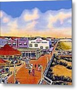 The Amusement Area At Myrtle Beach S C Around 1940 Metal Print