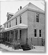 the ananda arthouse in the former st josephs rectory in Forget Saskatchewan Canada Metal Print