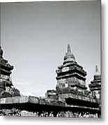The Ancient Stupas Of Borobudur Metal Print