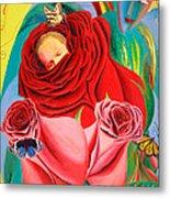 The Angel Of Roses Metal Print