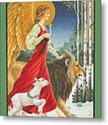 The Angel The Lion And The Lamb Metal Print