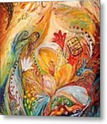 The Angels On Wedding Triptych - Left Side Metal Print