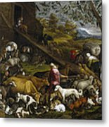 The Animals Entering Noah's Ark Metal Print