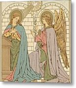 The Annunciation Of The Blessed Virgin Mary Metal Print by English School