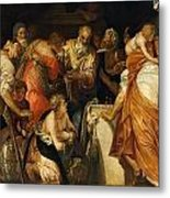 The Anointment Of David Metal Print
