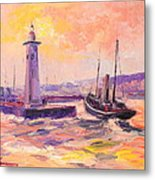 The Anstruther Harbour Metal Print