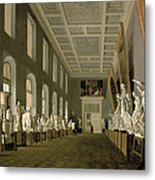 The Antiquities Gallery Of The Academy Of Fine Arts, 1836 Oil On Canvas Metal Print