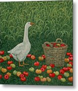 The Apple Basket Metal Print