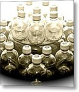 The Apple Bottle Metal Print