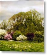 The Apple Orchard Metal Print