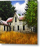 The Apple Tree On The Hill Metal Print
