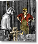 The Apprentice Blacksmith Armorer Metal Print