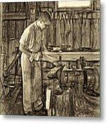 The Apprentice - Paint Sepia Metal Print