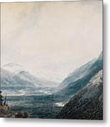 The Approach To Martigny Rhone Valley Valais Metal Print
