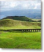 The Aqueduct Panoramic Metal Print