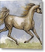 The Arabian Mare Running Metal Print