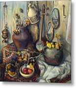 The Armenian Still-life With Culture Subjects Metal Print