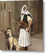 The Arnaut With Two Whippets Metal Print