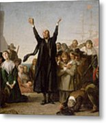 The Arrival Of The Pilgrim Fathers Metal Print